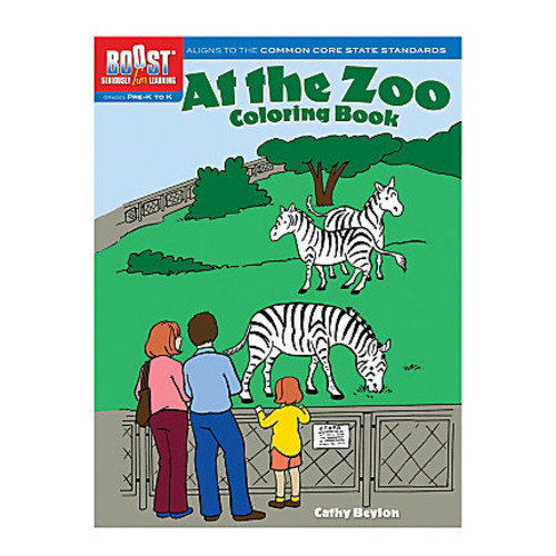 Dover Publications Boost Coloring Book, At the Zoo, Pre-K - K