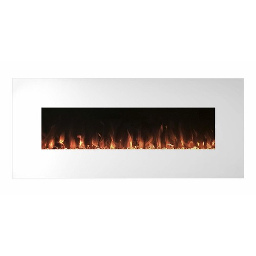 Electric Fireplace Wall Mounted, Color Changing LED Flame and Remote, 50 Inch By Northwest