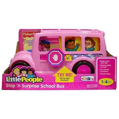 Little People Stop N Surprise School Bus Pink