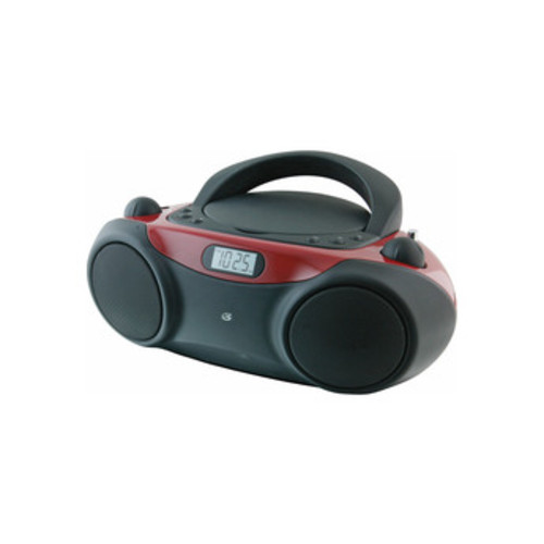 GPX Sporty CD and Radio Boombox - Red