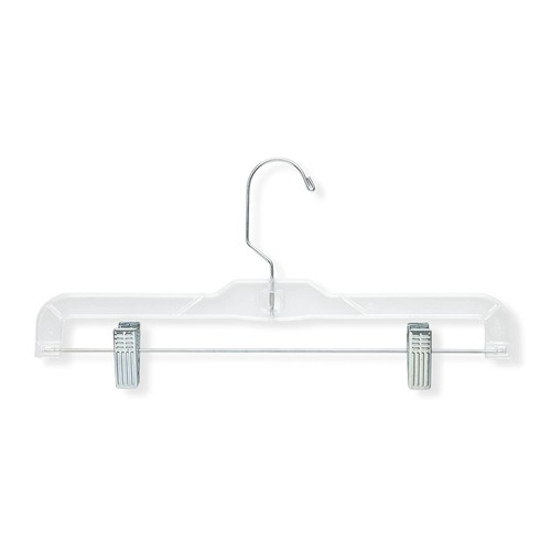 Honey-Can-Do HNGT01180 Crystal Clear Skirt and Pamt Hangers Clear, 12-Pack