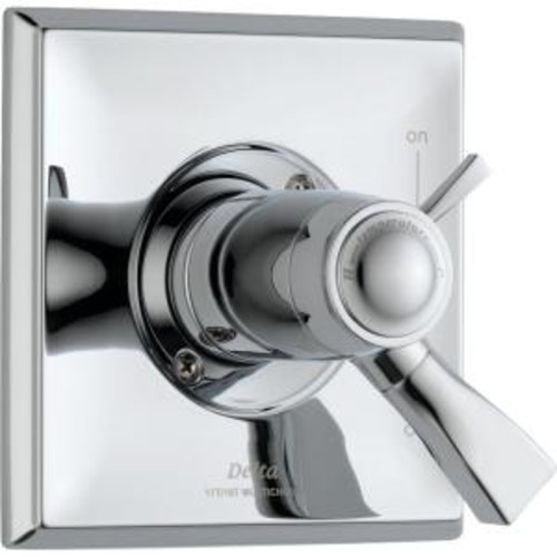 Delta Dryden TempAssure 17T Series 1-Handle Volume and Temperature Control Valve Trim Kit Only in Chrome (Valve Not Included)