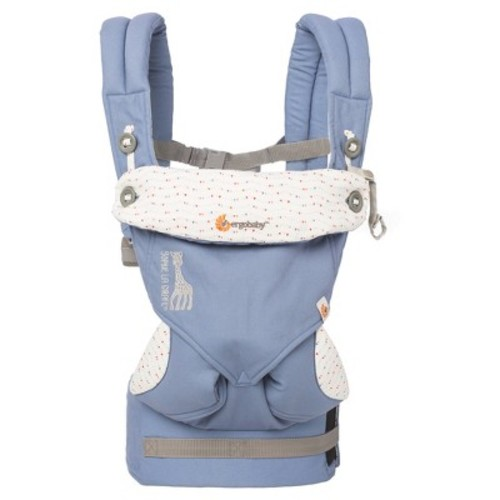Ergobaby 360 All Carry Positions Ergonomic Sophie la Girafe Baby Carrier - Blue