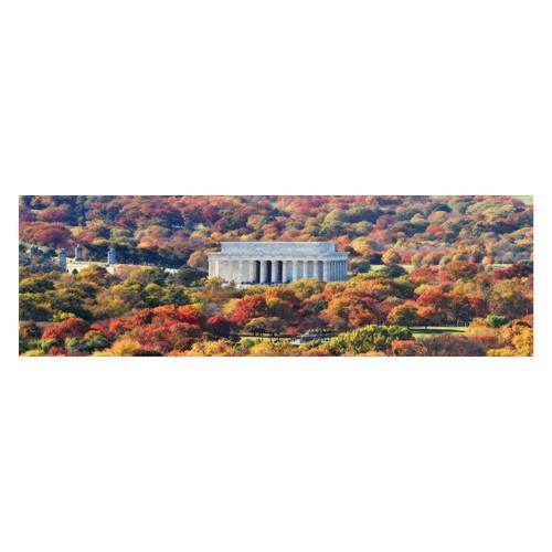 Trademark Global Gregory O'Hanlon 'Lincoln Memorial' Canvas Art [Overall Dimensions : 12x32]