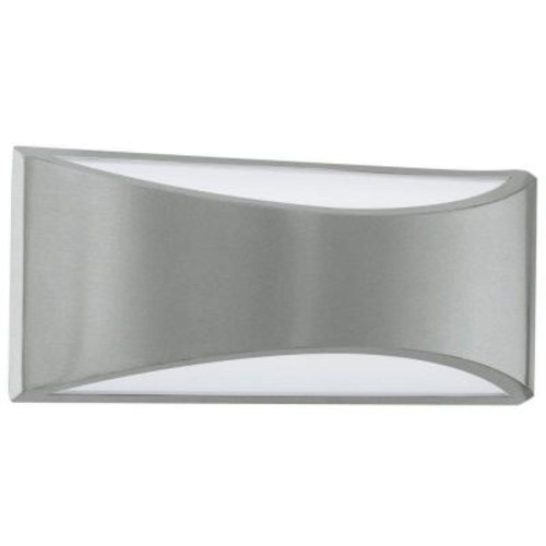 EGLO Volpino 2-Light Brushed Nickel Integrated LED Wall Light