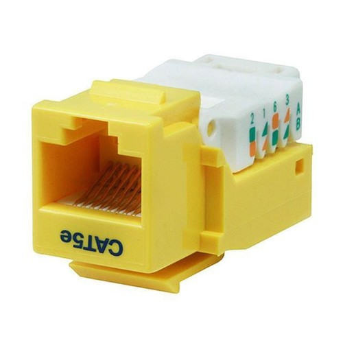 Monoprice Cat5E RJ-45 Toolless Keystone Jack in Yellow