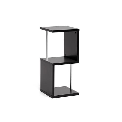 Baxton Studio Lindy Dark Brown Modern Display Shelf (2-Tier)
