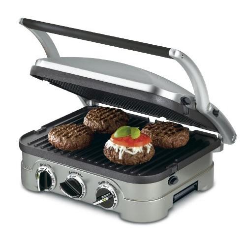 Cuisinart GR-4N 5-in-1 Griddler, Silver, Black Dials [Frustration-Free Packaging]