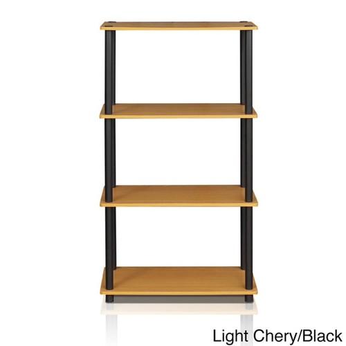 Furinno Multicolor 4-tier Multipurpose Shelf Display Rack [Finish : Beige Finish]