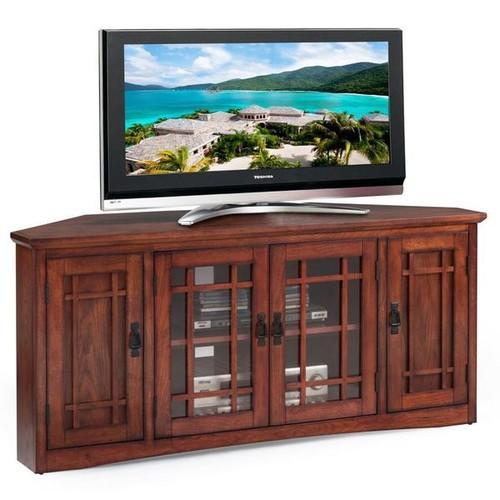 KD Furnishings TV Stands & Entertainment Centers Mission Oak Hardwood 57-inch Corner TV Stand