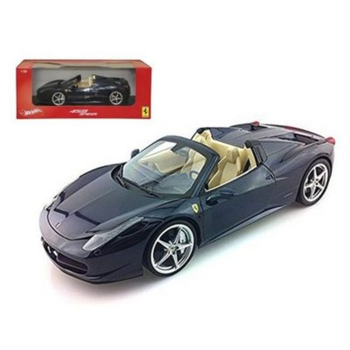 Hot wheels 2012 2013 Ferrari Italia 458 Spider Dark Blue Metallic 1-18 Diecast Model Car (DTDP2476)