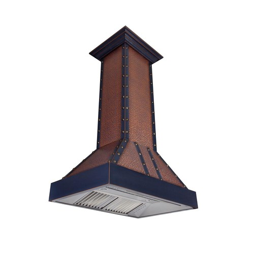 ZLINE Kitchen and Bath ZLINE 36 in. Island Mount Range Hood in Oil-Rubbed Bronze