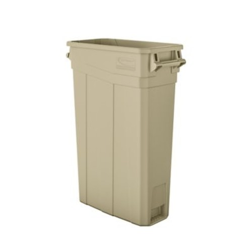 Suncast Commercial Slim Trash Can w/ Handles, 23 Gal Sand (TCNH2030S)
