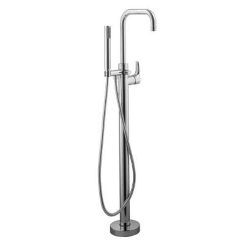 Schon Modern Single-Handle Freestanding Floor Mount Tub Faucet in Chrome