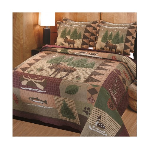 Greenland Home Moose Lodge Quilt & Sham Set, 3-Piece King