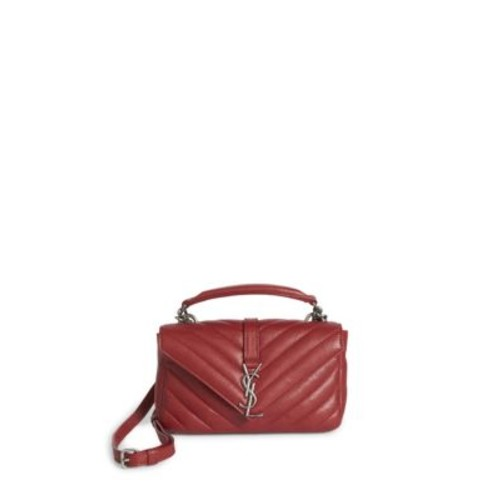 SAINT LAURENT College Monogram Matelassé Leather Chain Shoulder Bag