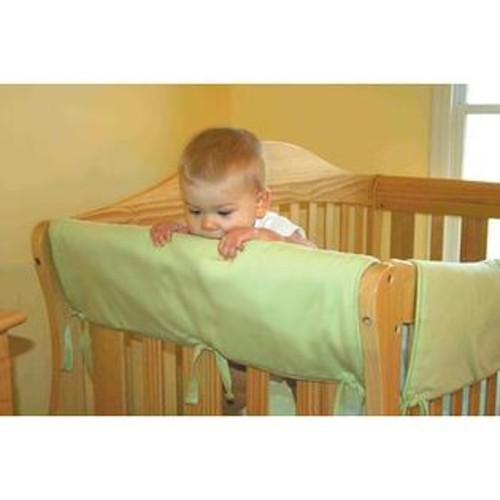 Trend Lab CribWrap Convertible Crib 2 Piece Side Rail Guard - White Fleece