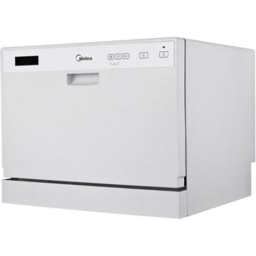 Midea - 6-Place Setting Countertop Dishwasher - White