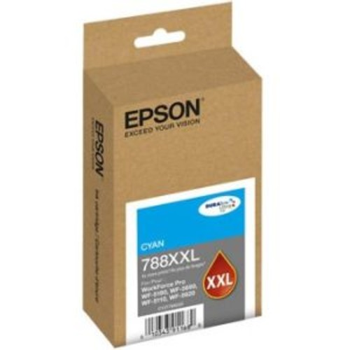 Epson DURABrite Ultra Ink 788XXL Cyan 4000 Pages Extra High Yield Ink Cartridge for WorkForce Pro WF-5620 Printer