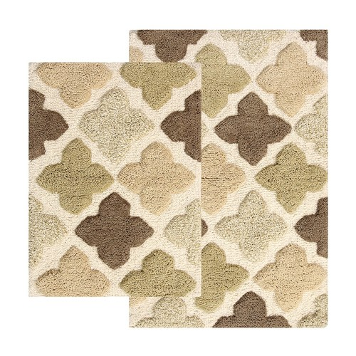 Chesapeake Alloy Moroccan Tiles 2-piece Bath Rug Set