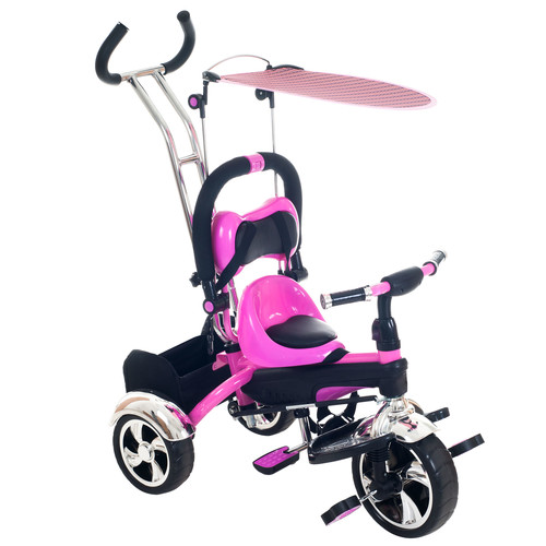 Lil' Rider 2 in 1 Stroller Tricycle - Child Safe Trike Trainer