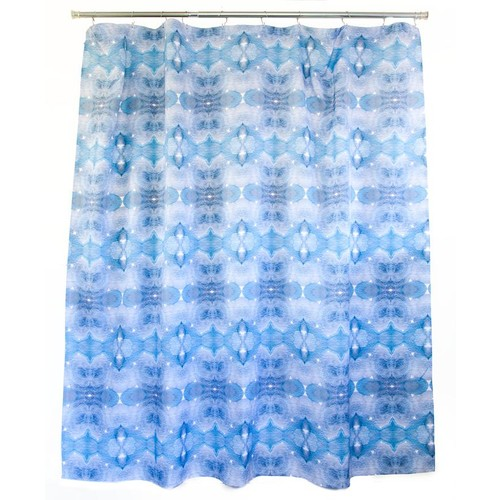 Sky Blue Shower Curtain design by elise flashman