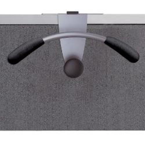Alba Over-The-Panel Garment Partition Valet, Chrome/Black