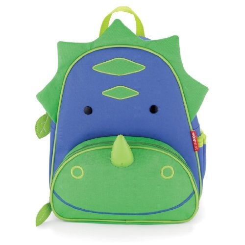 Skip Hop Zoo Toddler Kids Insulated Backpack Dakota Dinosaur Boy, 12-inches, Green [Dinosaur]
