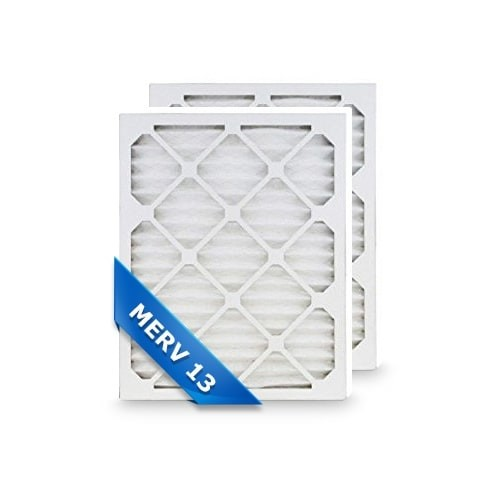 Replacement Pleated Air Filter for 16x22x1 Merv 13 (2-Pack)