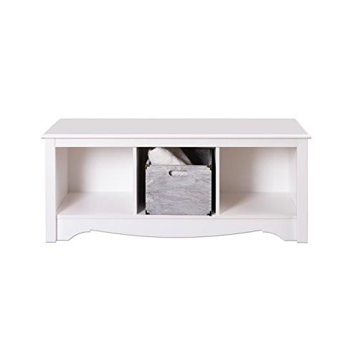 Prepac Monterey White Cubbie Bench [White, 3-Cubbie Bench]