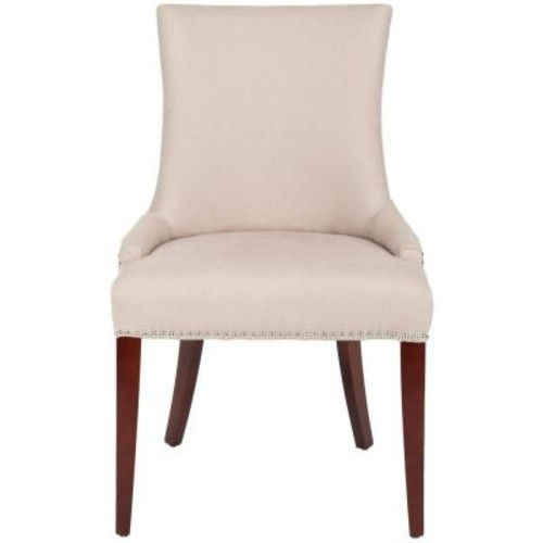 Safavieh Becca Taupe Linen Dining Chair