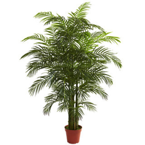 National Tree Company Artificial Plants Deluxe Areca Potted Palm Tree