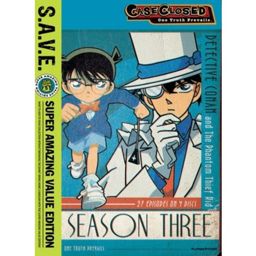 Case Closed: Season Three [S.A.V.E.] [4 Discs] [DVD]