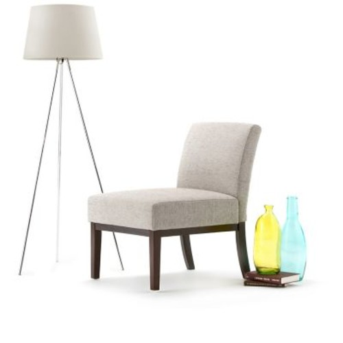 Simpli Home Upton Accent Chair in Light Grey (AXCCHR-007-LGR)