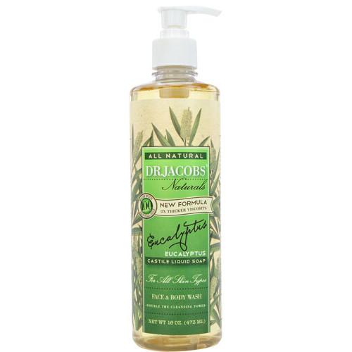 Dr. Jacobs Naturals Liquid Castile Soap Face & Body Wash Eucalyptus -- 16 fl oz