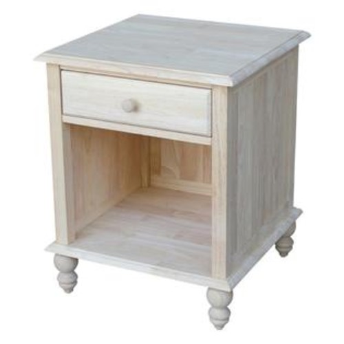 International Concepts Cottage Square Unfinished End Table