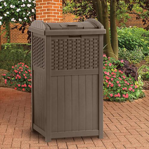 Suncast Trash Hideaway Trash Receptacle
