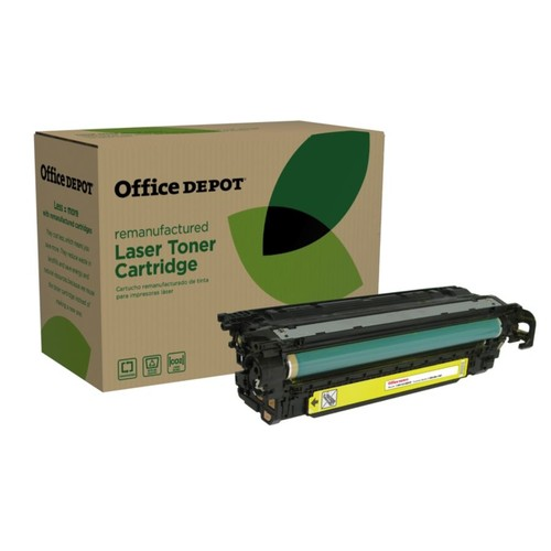 Office Depot Brand ODM551Y (HP CE402A) Remanufactured Yellow Toner Cartridge