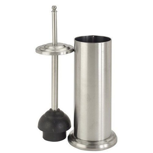 Bath Bliss Toilet Plunger in Stainless Steel