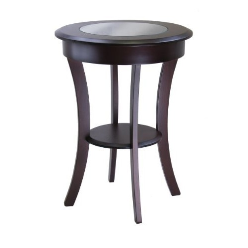 Cassie Round Accent Table with Glass