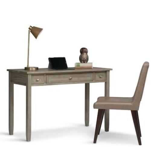 Simpli Home Warm Shaker Desk in Honey Brown (AXWSH010)