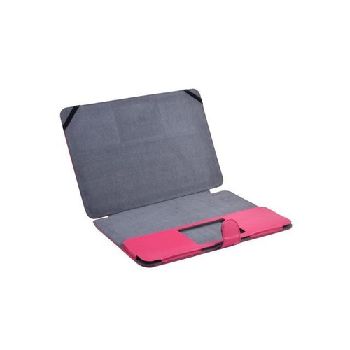 PC Computer PU Leather Cover Case Fuchsia for MacBook Air 13.3 Inch