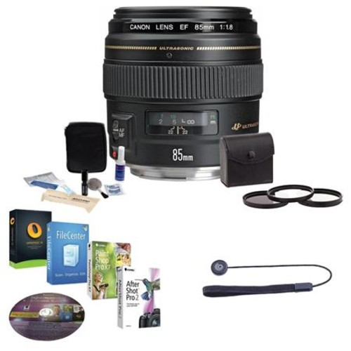 Canon EF 85mm f/1.8 USM with Free Accessory Bundle 2519A003 NK