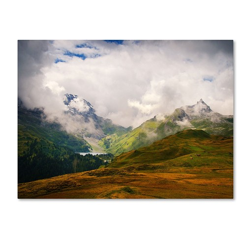 Peaceful Switzerland by Philippe Sainte-Laudy, 14 by 19-Inch Canvas Wall Art [14 by 19-Inch]