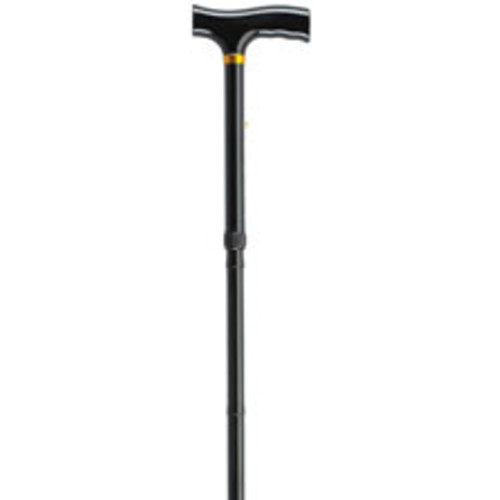 Drive Medical Lightweight Adjustable Folding Cane with T Handle, Black