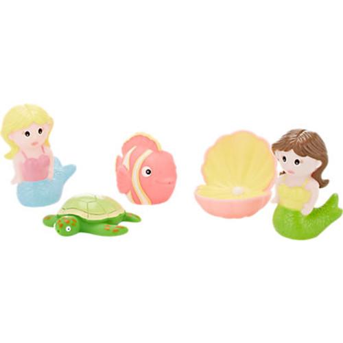 Elegant Baby Mermaid Party Bath Squirties Toy Set