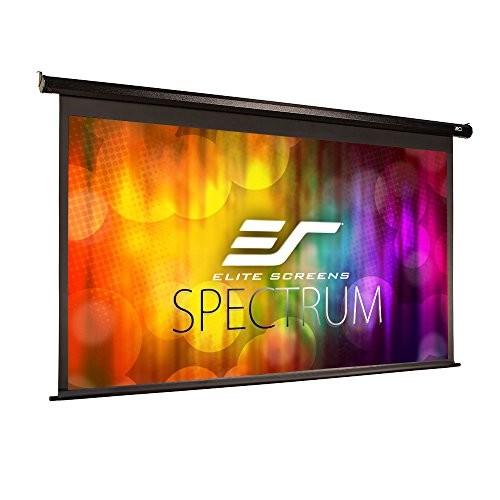 Elite Screens Spectrum, 150-inch Diag 16:9, Electric Motorized 4K/8K Ready Drop Down Projector Screen, ELECTRIC150H [Spectrum Series - Black, 16:9, 150-inch, Spectrum Series - Black Case]