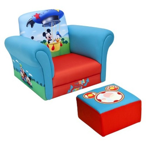 Upholstered Chair with Ottoman Disney Mickey Mouse - Delta Children