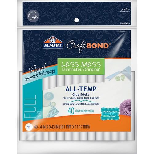 Elmer's CraftBond Less Mess All-Temp Glue Sticks 40/Pkg
