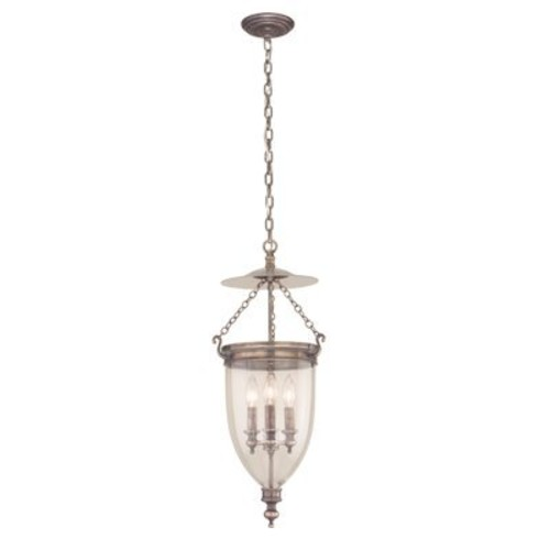 Hudson Valley 142-PN, Hanover Large Bowl Energy Star Pendant, 3 Light, 225 Watts, Nickel [Bronze]